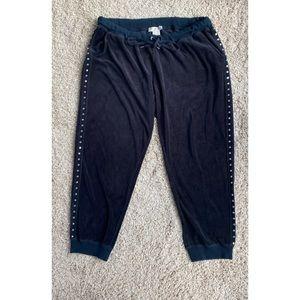 Michael Kors Black TrackSuit lounge Pants velvet